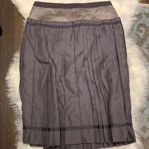 BCBG RUNWAY pleated skirt grey purple